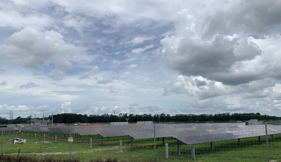Trent River solar panels and substation